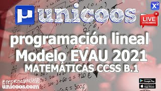 Imagen en miniatura para LIVE!!! Modelo EvAU 2021 - Matemáticas CCSS 13 - Ejercicio B.1 Programación lineal