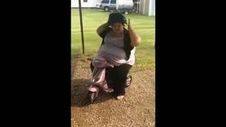 FAT GIRL DANCING ON BIKE FOR CHILDREN