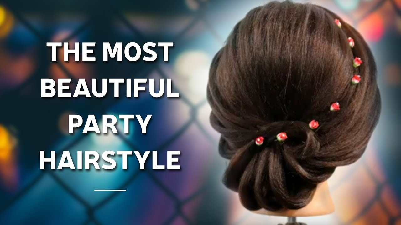 Download The Most Beautiful Party Hairstyle Step By Step Hair Updo Hairstyle Tutorial Pooja Goel Youtube Youtube Thumbnail Create Youtube