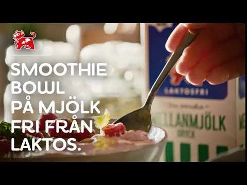 Smoothie bowl på mjölk fri från laktos | Arla