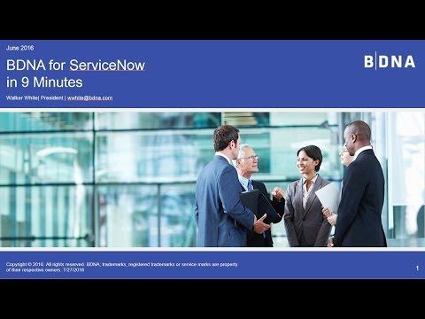 ServiceNow Demo & BDNA Integration Tutorial