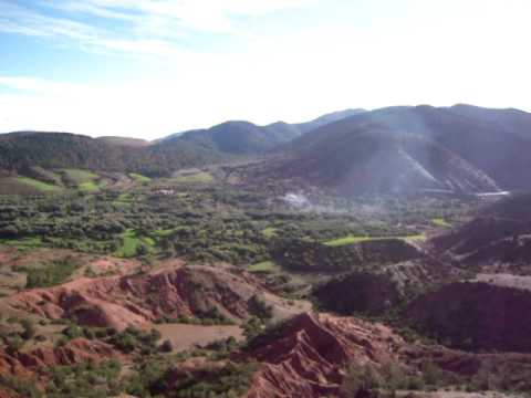 Valley and Mountains outside of Marrakesh