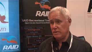 Scubaverse talks to Terry Cummins from RAID International at DIVE 2014 (watch)