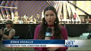 Preparando  concierto de año nuevo con Pitbull en Miami