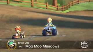Mario Kart 8 Highlights #5 - Moo Moo Meadows (Wii)