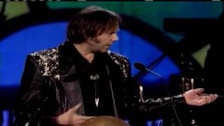 Neil Young inducts Jimi Hendrix Experience Rock and Roll Hall of Fame inductions 1992
