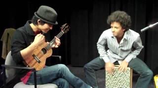 Cajon & Ukulele Jam with Jake Shimabukuro (Part 1/2)