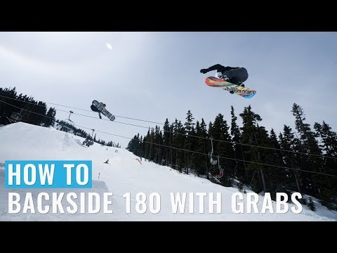 How To Backside 180 With Grabs On A Snowboard