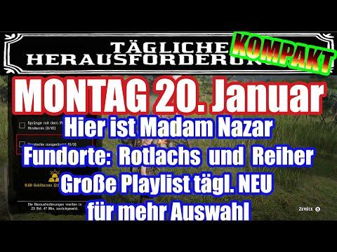 Montag 20. Januar Täglichen Herausforderung Dailys Nazar Red Dead Redemption 2 Online Deutsch