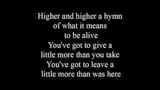More than you take - lyrics
