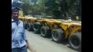 Longest truck with 72 wheels in India - AMAZING