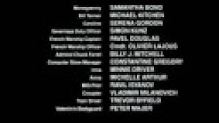 GoldenEye Film End Credits - The Experience of Love