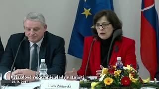 Výjazdové rokovanie vlády v Hnúšti 26.2.2018