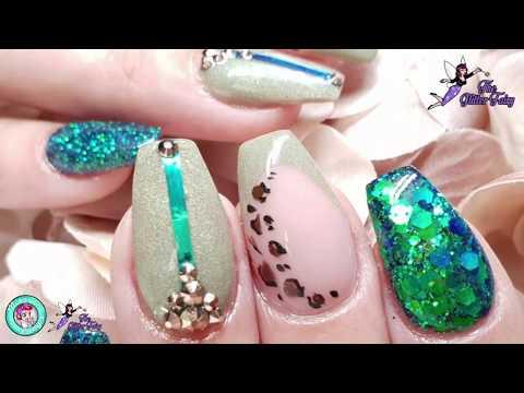 Autumn Nails - Chameleon Glitter - Leopard Print
