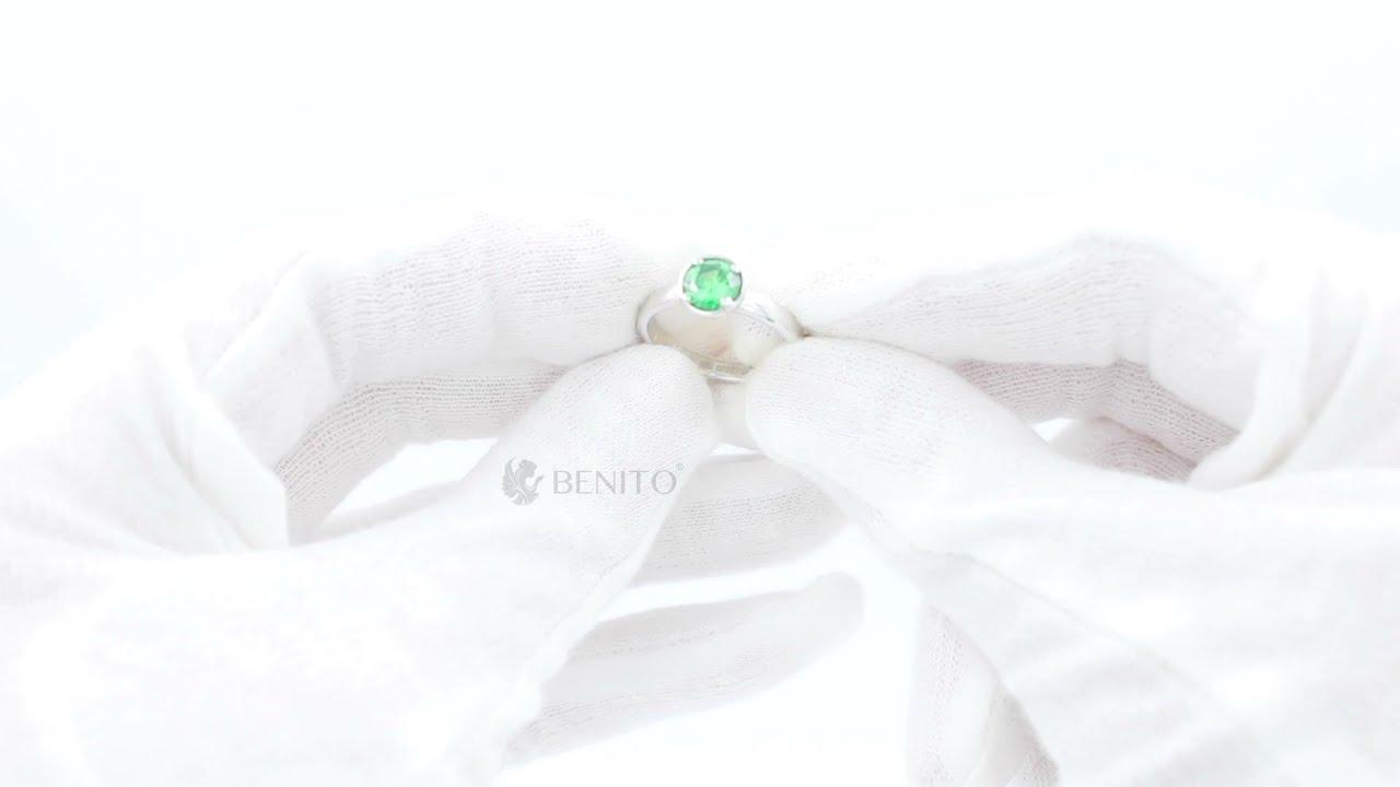 Emma Ring Green Zircon Stone