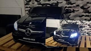 elektrische kinderauto mercedes gle63 amg metallic zwart 12v 2.4g kinderauto winkel