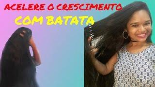 COMO FAZER O CABELO CRESCER RÁPIDO COM SUMO DA BATATA