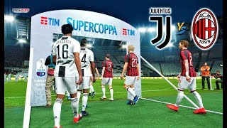 PES 2019 | Final Supercoppa | JUVENTUS vs MILAN | Gameplay PC