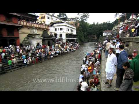 Pashupatinath Temple and the holy river Bagmati