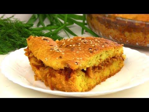Пирог из Ничего!!Постный Заливной Пирог с капустой