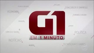 [Vinheta] G1 em 1 Minuto | Globo (2016)