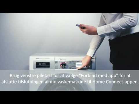 Home Connect tilslutning af Bosch vaskemaskine
