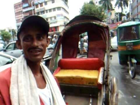 アキーラさん交流!バングラデッシュ・ダッカ・力車運転手!Rikisha,Dahka,Bangladesh