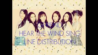 Gfriend-Hear The Wind Sing Line Distribution
