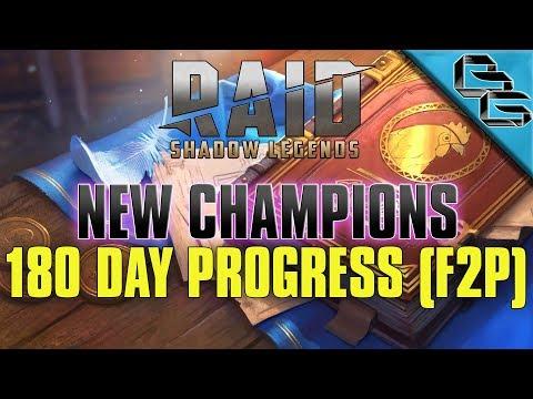 RAID: Shadow Legends | 180 Day Progress + New Champions Overview!!! | FREE Sacred Shard | F2P