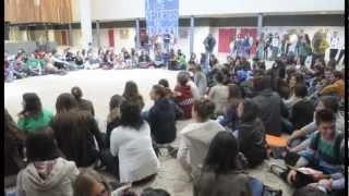 Estudiantes de Segovia protestan por los recortes en educación