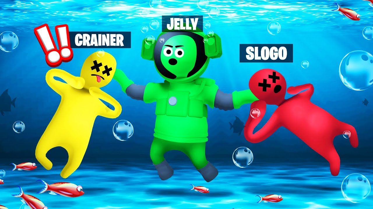 Jelly - CHEATING In GANG BEASTS Using A DIVING SUIT!