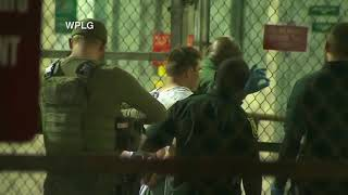 Suspected south Florida school shooter Nikolas Cruz arrives at the Broward County Jail