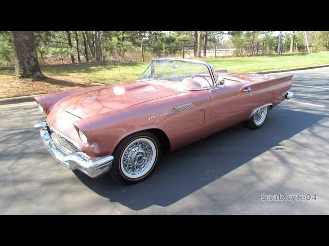 1957 Ford Thunderbird Roadster Start Up, Exhaust, and In Depth Review