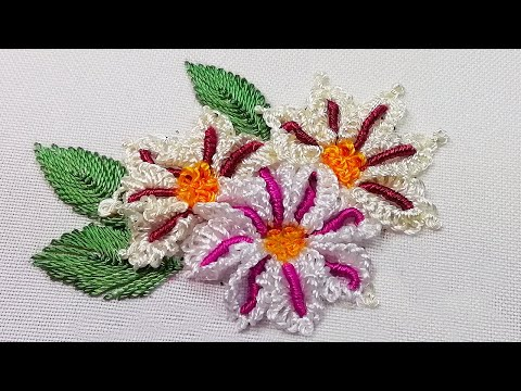 African Camomile | Dimensional Embroidery | New petal's design