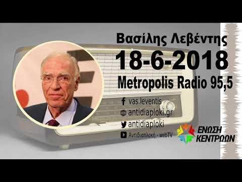 Β. Λεβέντης : Ο Τσίπρας δεν έχει καταλάβει... / Μετρόπολις 95,5 / 18-6-2018