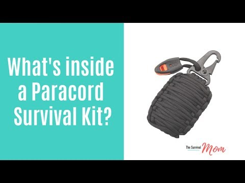 What's inside a paracord survival kit?
