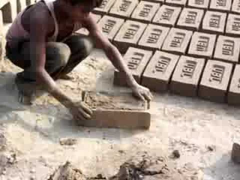 Boys making bricks