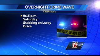 Greensboro cleaning up after overnight crime spree