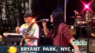 Michelle Branch & Santana - The Game Of Love (Live @ Good Morning America 20030620)