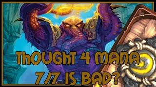 Hearthstone: Thought 4 mana 7/7 is bad? (pirate paladin)