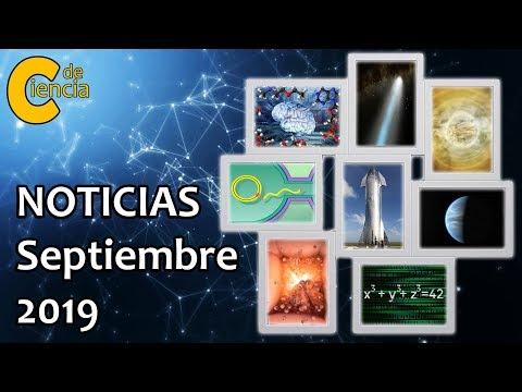 Noticias científicas septiembre 2019