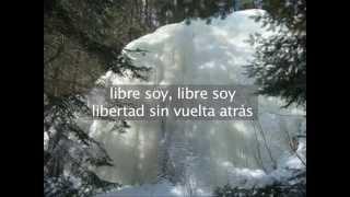 Frozen - libre soy - karaoke (versión Martina con la letra escrita)