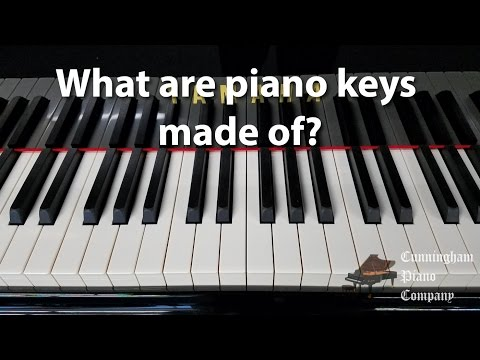 What are piano keys made of? | Cunningham Piano Co.