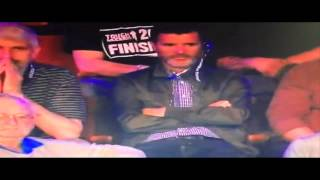 Roy Keane snookered by Dennis Taylor at Snooker World Championships
