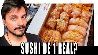 SUSHI DE 1 REAL É REALMENTE BOM? - XEPA!
