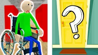 БАЛДИ ИНВАЛИД - СЕКРЕТНАЯ КОМНАТА ! - Baldi's In A Wheelchair [Baldi's Basics Mod - Балди Мод]