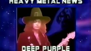 US TV announcing the return of Deep Purple in 1984 for Perfect Strangers