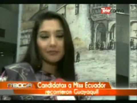 Candidatas a Miss Ecuador recorren la Ciudad con los Anfitriones