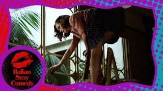 Malizia - Angela sulla scala - Legs on the ladder