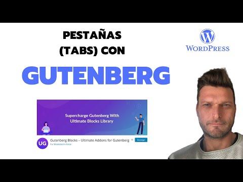 ✅  PESTAÑAS (TABS) CON GUTENBERG